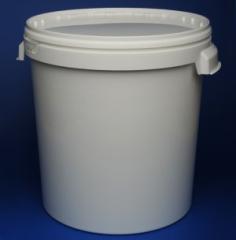 Ведро пластиковое с крышкой и ручками 33 литра