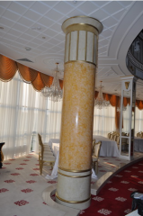 Facing of columns artificial stone