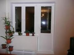 Двери из ПВХ балконные Ferestre steclopaket,...
