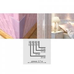 Cornier PVC pt tapete 15*15mm 2.7ml
