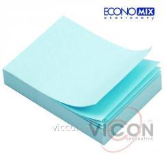 Стикеры для заметок с липким слоем, 38 x 50 мм, 100 листиков, голубой, ECONOMIX