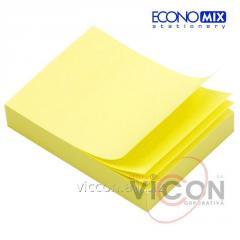 Стикеры для заметок с липким слоем, 38 x 50 мм, 100 листиков, желтые, ECONOMIX