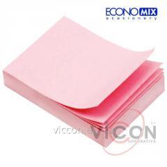 Стикеры для заметок с липким слоем, 38 x 50 мм, 100 листиков, розовые, ECONOMIX