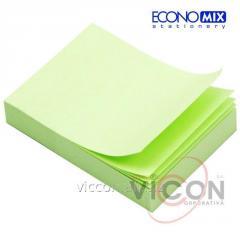 Стикеры для заметок с липким слоем, 38 x 50 мм, 100 листиков, зеленые, ECONOMIX