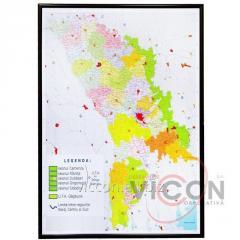 Административно-территориальная карта Молдовы (123 x 87 cm)