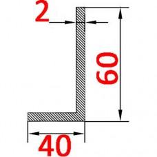 Алюминиевый уголок 40/60 2,0 мм