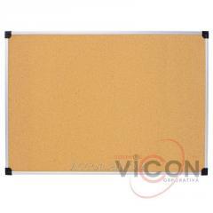 Доска пробковая 120 x 180 см, рамка алюминиевая, ELEGANT