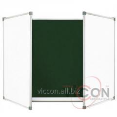 Доска комбинированная 120 x 400 cm, меловая+маркеренная ELEGANT (5 поверхностей)