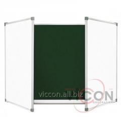 Доска комбинированная 120 x 300 cm, меловая+маркеренная ELEGANT (5 поверхностей)