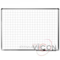 Доска магнитно-маркерная в клетку, ELEGANT, алюминиевая рамка, 90 х 120 см., цвет белый
