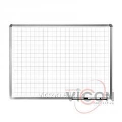 Доска магнитно-маркерная в клетку, ELEGANT, алюминиевая рамка, 60 х 90 см., цвет белый
