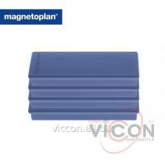 Набор из 4 шт. ферритовых прямоугольных магнитов Rechteck Magnetoplan, синего цвета