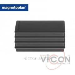 Набор из 4 шт. ферритовых прямоугольных магнитов Rechteck Magnetoplan, черного цвета