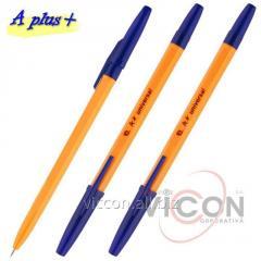 Ручка шариковая Aplus A-118, синяя