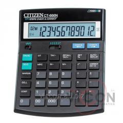 Калькулятор Citizen CT-666N бухгалтерский с коррекцией