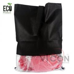 Эко-Мешок для обуви с шнуром и прозрачным окном,