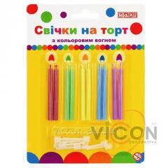 Набор: 10 свечей, которые горят разноцветным