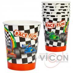 Набор из 6 стаканов бумажных Racing,  270 мл