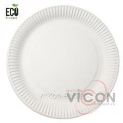 Тарелки одноразовые бумажные круглые, 230 мм, 50