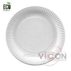 Тарелки одноразовые бумажные, 200 мм, 20 штук