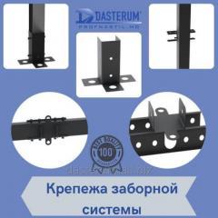Stâlpi de gard, sistem de montare a gardului