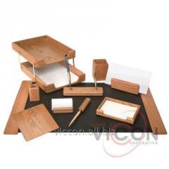 Набор настольный деревянный, 10 предметов, 91045