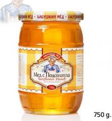 Мёд с подсолнуха 420 г; 750 г