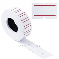Этикетки-ценники Economix 21х12 мм белые с красной
