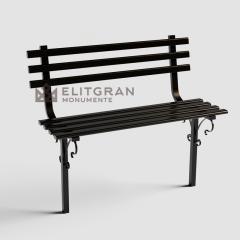 Скамейка из металла на кладбище M3