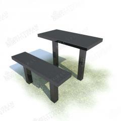 Стол и Скамейка из Гранита М4