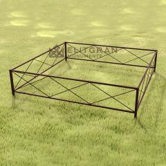 Gardul din metal G1 pentru Cimitir