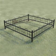 Gard metalic G4 pentru cimitir