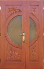 Doors entrance wooden Chisina