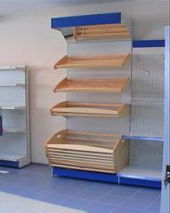 Plastic wall shelves