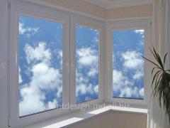 Installazione di finestre di plastica in...