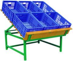 Металлический стенды мобильные для  фруктов и