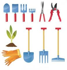 Лопаты,  грабли,  секаторы,  сучкорезы, ...