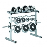 Rack under dumbbells and signature stamps
