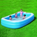 Inflatable paddling pool rectangular