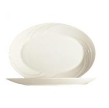 Oval dish bezh
