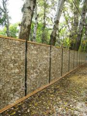 Professional flooring for a fence with drawing