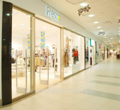 Partitions glass for shopping centers in Moldova.