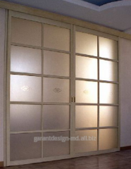 Interroom partitions in the aluminum shape in Moldova.