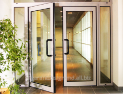 Doors from the aluminum shape - aluminum doors in