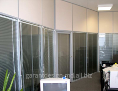 Frame partitions with glass