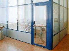 Aluminum and PVC partition