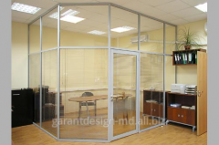 Office partitions, installation of partitions for office