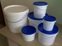 Bucket plastic from 1,1 l. to 21 l, from