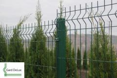 Welded panels from a galvanized wire (Euro fences)