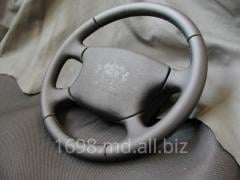 Banner of a steering wheel